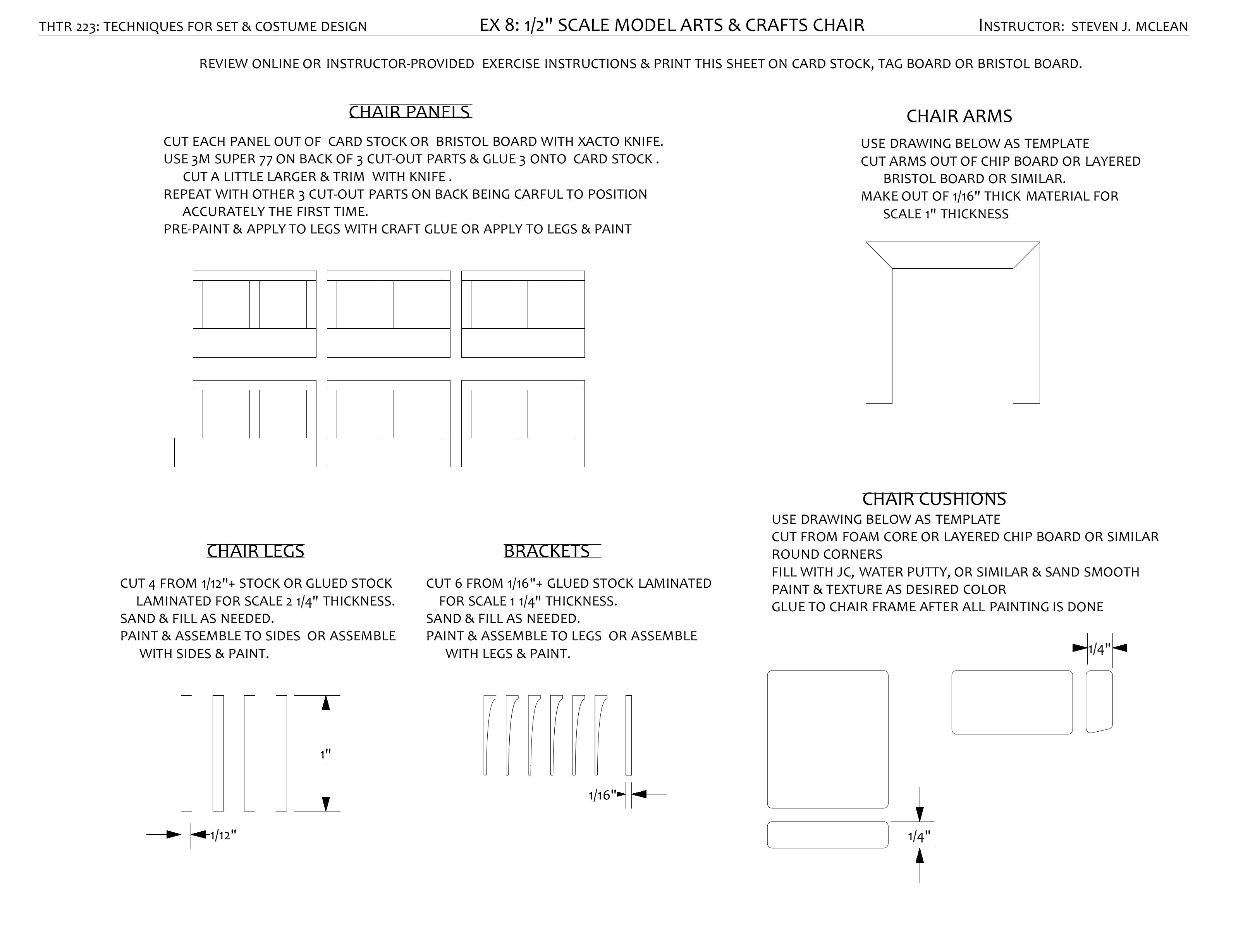 How To Build Free Furniture Templates 1 4 Scale Plans