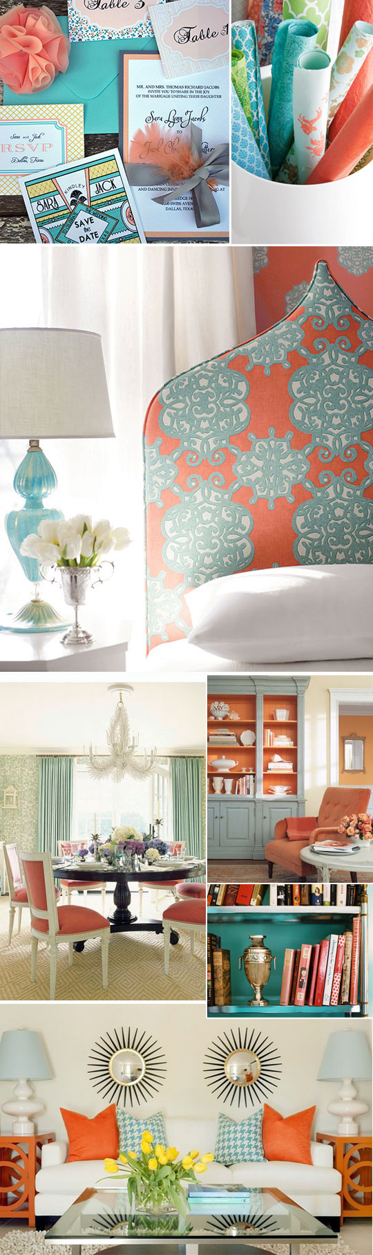 color obsession coral and turquoise  Design Apothecary