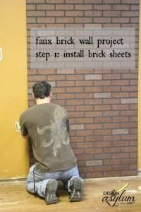 Faux brick walls   Design Asylum Blog