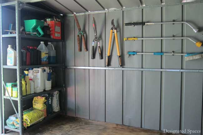 Storage Shed Organization  Part 2  Designated Spaces