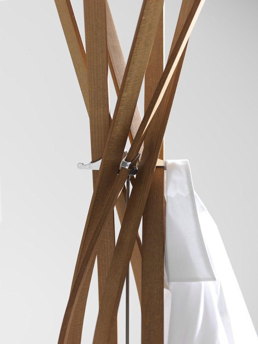 Appendiabidi twist di Horm un fiore di legno da esibire  Arredare con stile