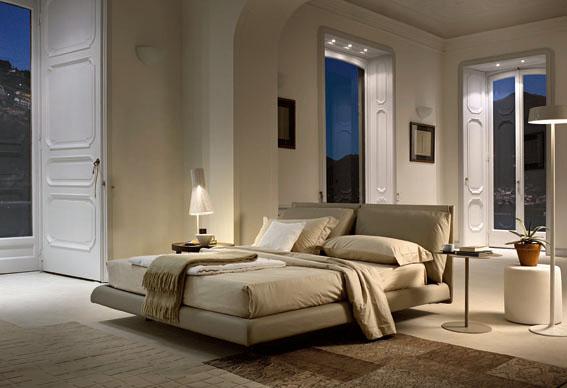 Raffinato e confortevole il letto Malou di Bontempi