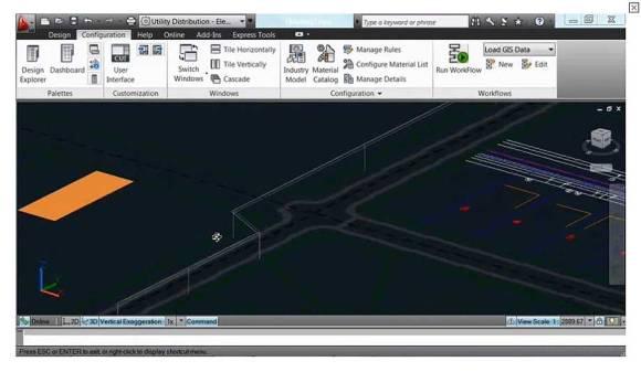AutoCAD Utility Design: 3D
