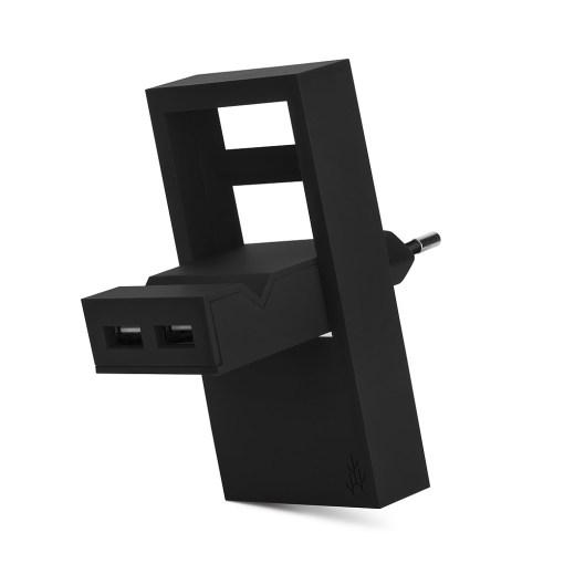 Usbepower ROCK dubbel USB-laddare - 2-i-1 fickladdare för optimal mobilitet