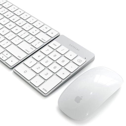 Satechi Slim Wireless Keypad - Uppladdningsbar Bluetooth-knappsats av aluminium