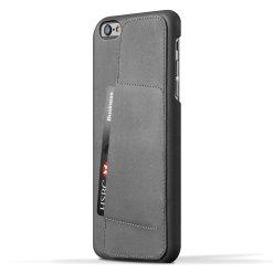 Mujjo 80 Leather Wallet Case - Plånboksskal av äkta läder för iPhone 6/6s Plus med 5
