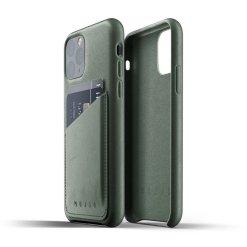 Mujjo Full Leather Wallet Case för iPhone 11 Pro - Slate Green