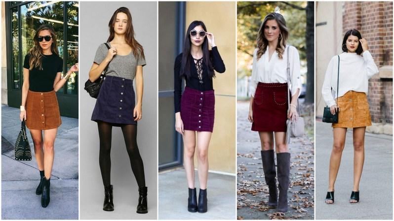 manšestrová sukně podzimní trend 2018 (3)