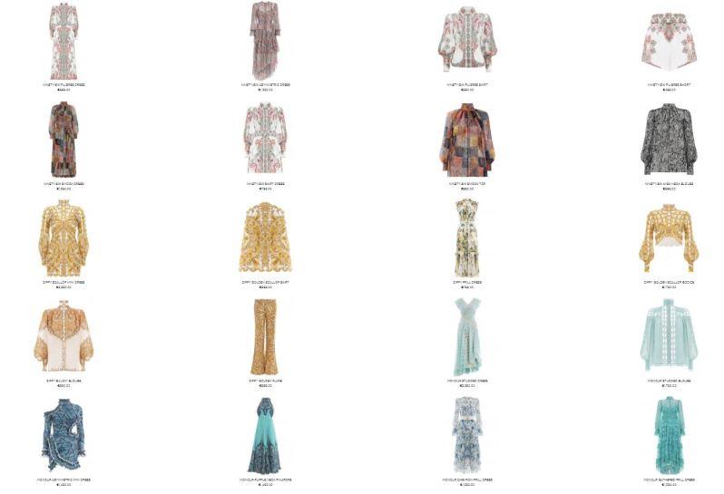 Luxusní oblečení v bohémském stylu.