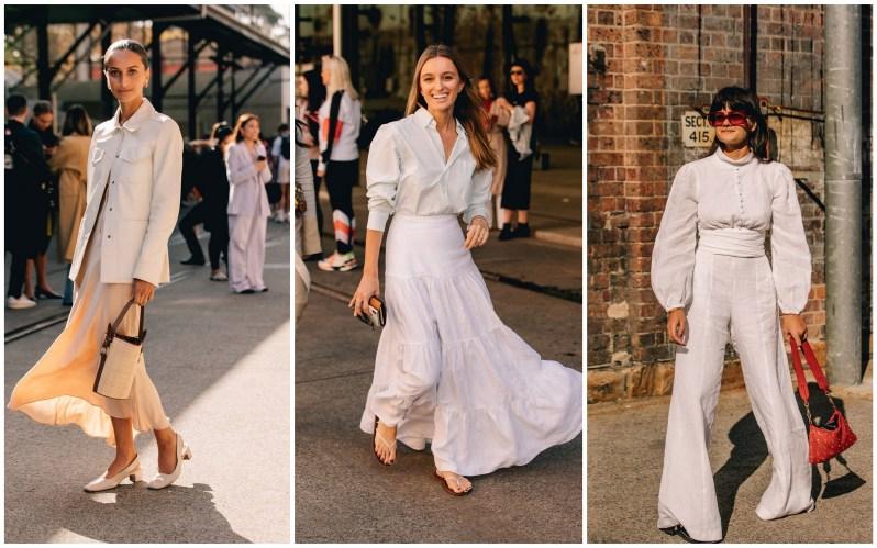 Módní ženy oblečené ve světlých barvách v Sydney.