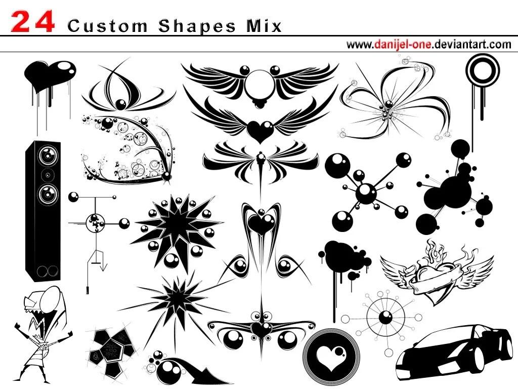 1000+ Free Photoshop Custom Shapes In 40 Sets « heavensgraphix