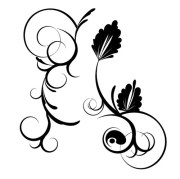 11.floral and swirl vectors