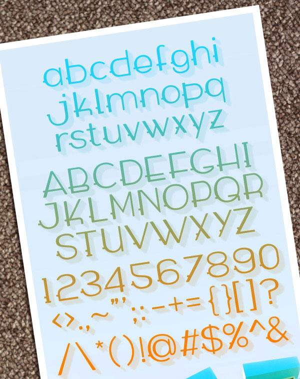 5.Free Font Of The Day  Wabeco