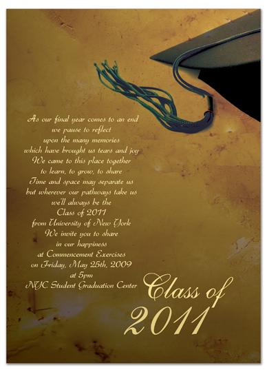 Download Sample Graduation Invitation Announcement Brown
