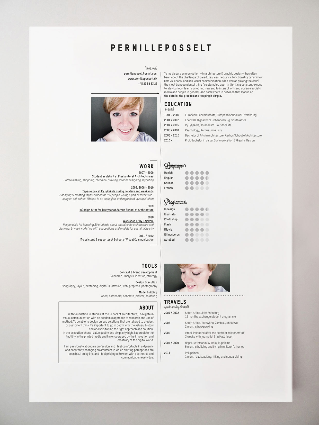 Creative Resumes Resume Insperation On Pinterest Resume Resume Design