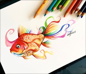 pencil drawings amazing drawing colour lipscomb katy patreon support lucky978 deviantart colorful designbolts realistic coloring artists views 1352 animal