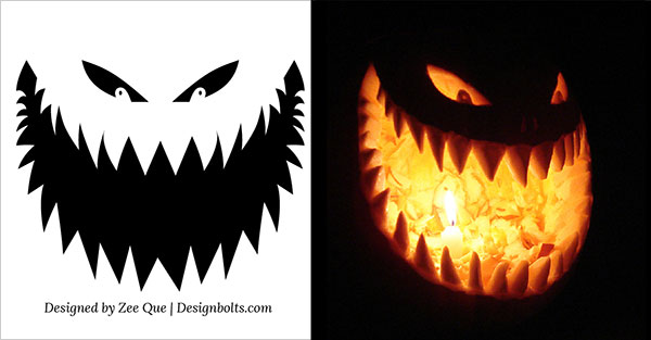 Halloween Free Scary Pumpkin Carving Patterns 2012