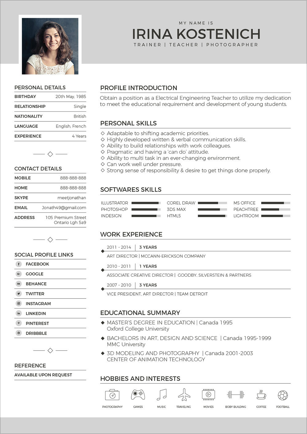 Free Templates For Cover Letters Free Modern Cv Template Cover Letter Portfolio Design Template
