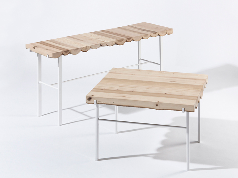 Firewood Log Side Tables By Klára Sumová