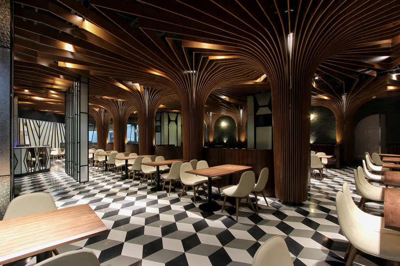 Liu Haowei Supports Restaurant In China With Treelike Columns