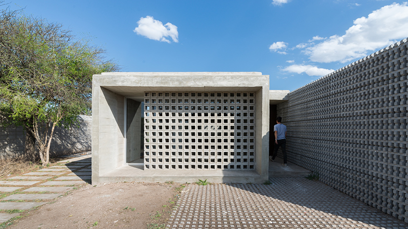 Agustin Lozada Blends Concrete And Glass For Pair Of Low