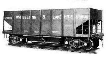 W&LE 59000 series steel hopper.