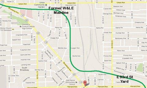 W&LE map through Newburgh.