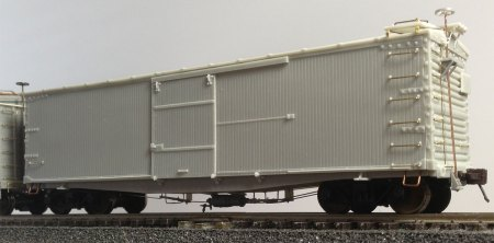 The nearly completed Union Pacific B-50-4 box car.
