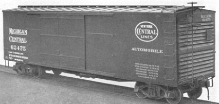 New York Central's 1916 double sheathed box car