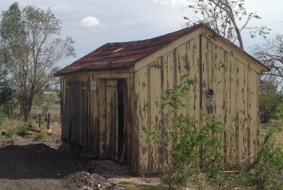 The Hurley, NM, prototype shed.