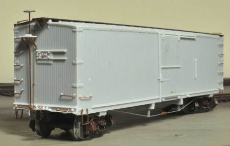 Yarmouth Model Works HO scale Northern Pacific double-sheathed box car