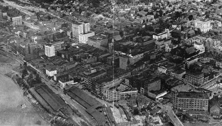 A 1928 aerial view of Wheeling, W. Va.