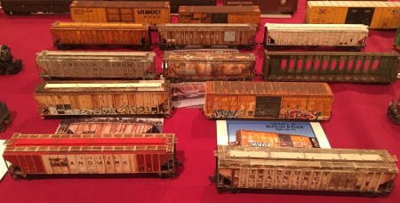 Butch Eyler had a number of well weathered HO scale models on display.