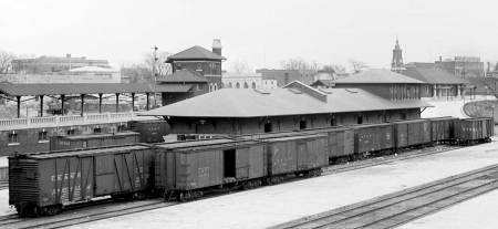 Orange, NJ, freight house circa 1920. Photo from the Steamtown NPS archives.