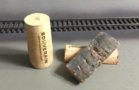 Wine corks for track cleaning