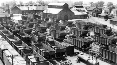 Western Maryland railway repair yard, Elkins, W. Va., 1939.