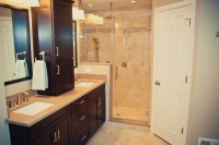 Master Bathroom Remodel with Redesign and Hall Bathroom ...