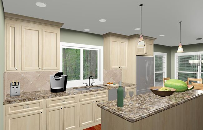 Colonial Style Home Kitchen Remodeling Design Options and