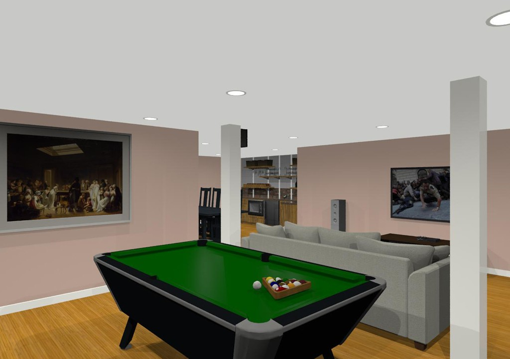 Basement Plan Ideas Design Ideas For Basement Remodeling With Game Room And