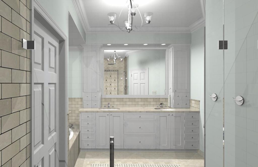 Master Bathroom Design Options Plan 1 Design Build