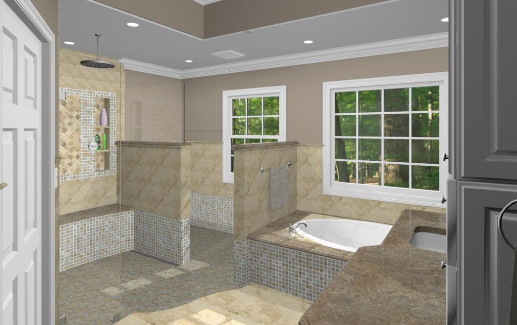 Master Bathroom Design Options  Plan 3  Design Build
