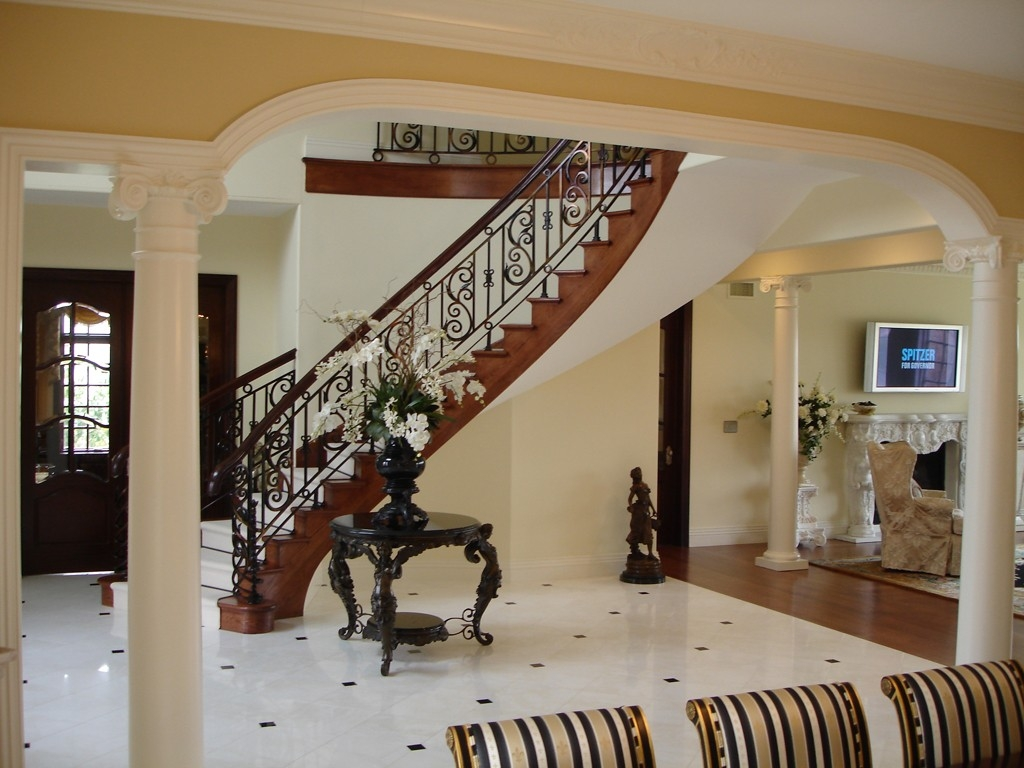 Stair Railing Material Options Design Build Planners | Metal Railing Designs Stairs | Rot Iron Staircase | Step | Luxury | Creative Outdoor Stair | Curved Railing
