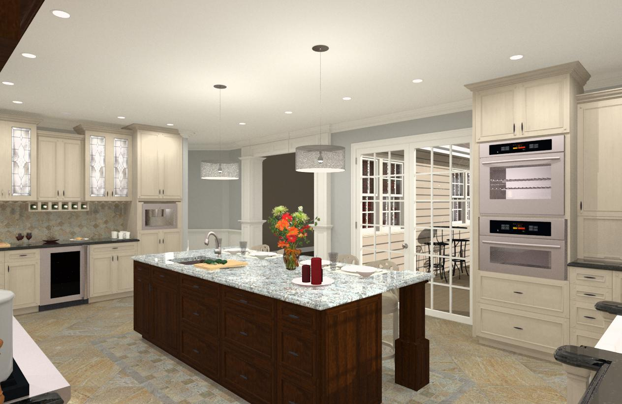 Gourmet Kitchen Addition Design in Monmouth County NJ  Design Build Planners
