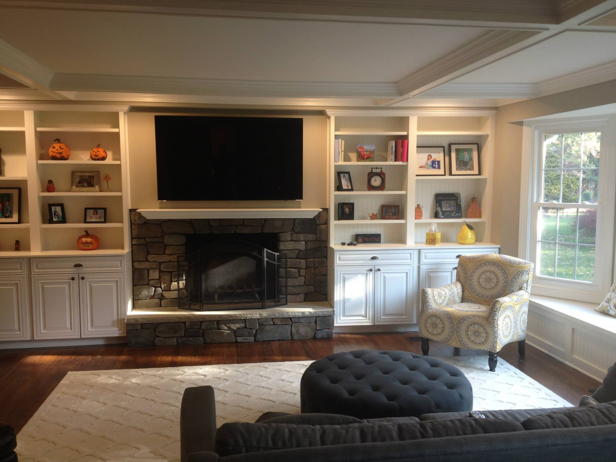 How To Build In A Gas Fireplace Bridgewater Nj Built In Cabinetry Around Fireplace