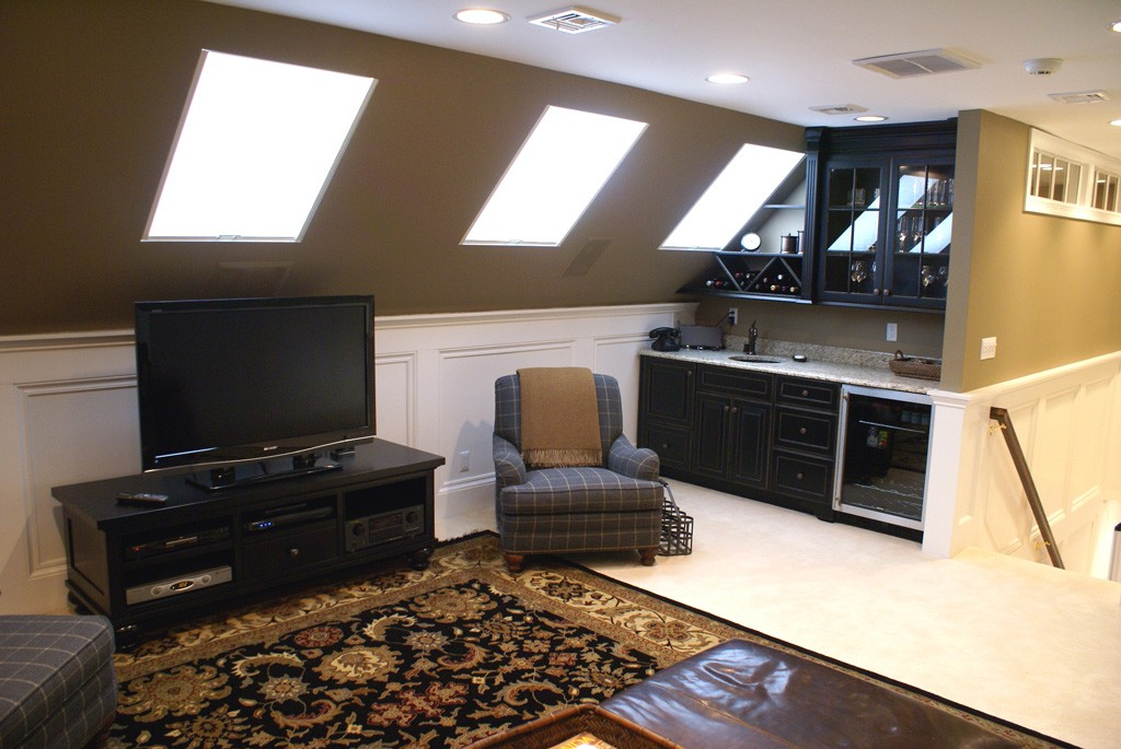 Walk Up Finished Attic Space in NJ  Design Build Planners