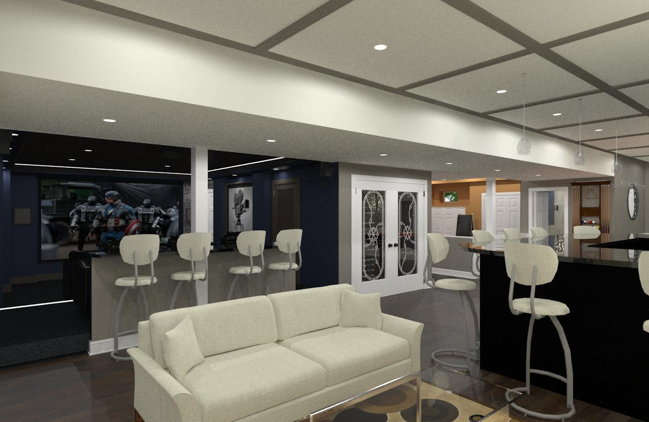 kitchen bar designs modern design luxury basement in somerset county, nj - ...
