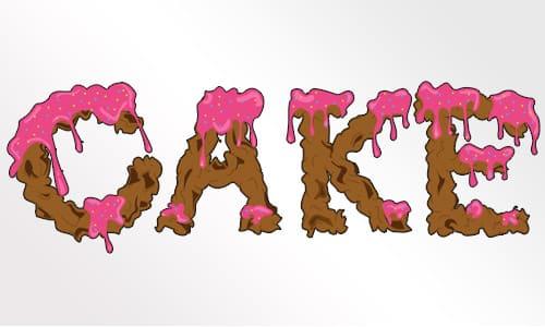 Create a Dripping Icing Cake Font DesignBump