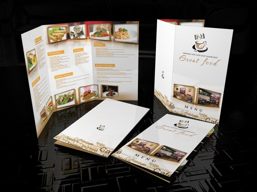 posh restaurant menu