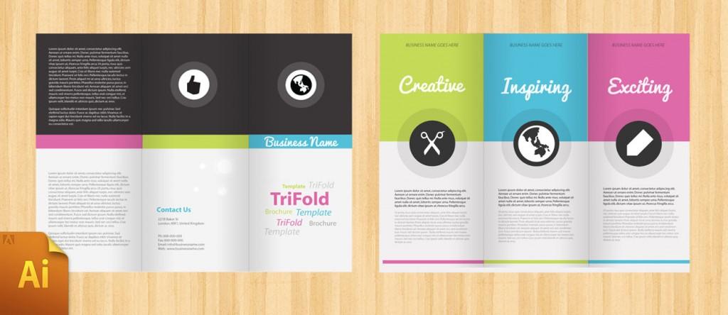 Free Three Fold Brochure Template Ideal Vistalist Co