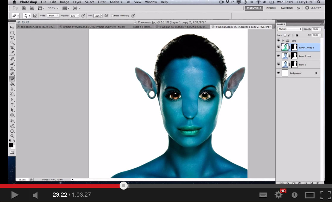 Photoshop Tutorial: Avatar Na'vi Photo Manipulation